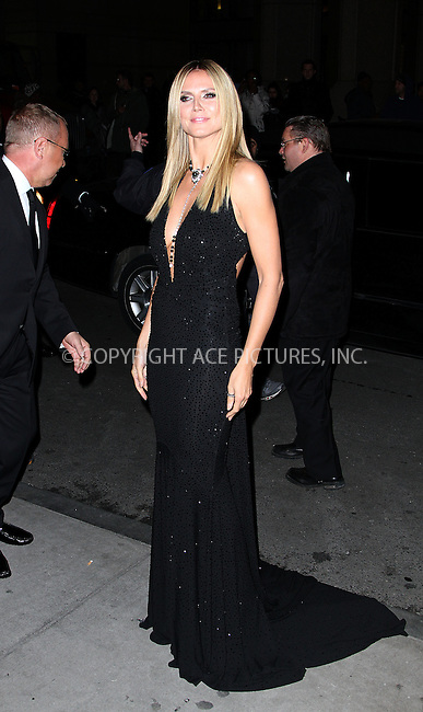 WWW.ACEPIXS.COM....February 6 2013, New york City....Heidi Klum arriving at the amfAR New York Gala To Kick Off Fall 2013 Fashion Week at Cipriani Wall Street on February 6, 2013 in New York City.....By Line: Zelig Shaul/ACE Pictures......ACE Pictures, Inc...tel: 646 769 0430..Email: info@acepixs.com..www.acepixs.com