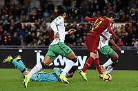 Patrik Schick of AS Roma scores second goal for his side during the Serie A 2018/2019 football match between AS Roma and Sassuolo at stadio Olimpico, Roma, December, 26, 2018 <br />  Foto Andrea Staccioli / Insidefoto