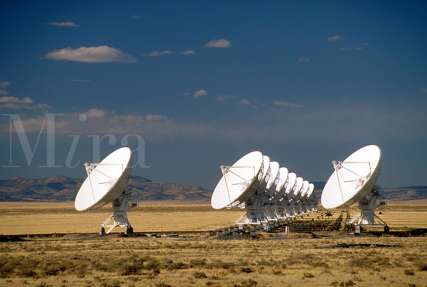The VLA consists of 27 dish-shaped antennas, each 82-ft in diameter, spread across the Plains of Augustin east of Datil, NM 0n US 60. The antennas are connected together to form a single large radio telescope capable of making pictures of extremely faint