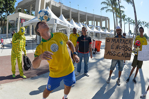 02.06.2013. Maracana Stadium, Rio de Janeiro, Brazil.  Fans of Brasil International football friendly and the official opening of the newly refurbished stadium. The score ended at 2-2.