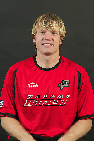 DALLAS, TX - FEBRUARY: Bobby Rhine #19 of the Dallas Burn head shot on February 17, 2004 season in Dallas, Texas. (Photo by Rick Yeatts) Rhine's career consisted of 212 games making 136 starts, played more than 12,000 minutes scoring 23 goals and 34 recorded assists.