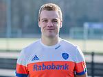 UTRECHT - Mink van der Weerden , home /  shirt speler Nederlands Hockey Team heren. COPYRIGHT KOEN SUYK