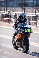 Sam Lowes in pit line at pre season winter test IRTA Moto3 & Moto2 at Ricardo Tormo circuit in Valencia (Spain), 11-12-13 February 2014