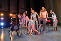 London, UK. 13.05.2014. StopGap Dance Company present ARTIFICIAL THINGS as part of the =dance strand in the Lilian Baylis Studio, at Sadler's Wells. Picture shows: David Toole, Amy Butler, Laura Jones, David Willdridge, Henry Vacuum and Chris Pavia. Photograph © Jane Hobson.