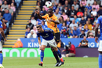 Willy Boly of Wolverhampton Wanderers and James Maddison of Leicester City during Leicester City vs Wolverhampton Wanderers, Premier League Football at the King Power Stadium on 11th August 2019