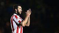 Lincoln City's Ollie Palmer applauds the fans at the final whistle<br /> <br /> Photographer Chris Vaughan/CameraSport<br /> <br /> The EFL Sky Bet League Two - Lincoln City v Cheltenham Town - Tuesday 13th February 2018 - Sincil Bank - Lincoln<br /> <br /> World Copyright &copy; 2018 CameraSport. All rights reserved. 43 Linden Ave. Countesthorpe. Leicester. England. LE8 5PG - Tel: +44 (0) 116 277 4147 - admin@camerasport.com - www.camerasport.com