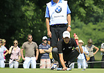 Simon Thornton lines up his putt on the 3rd green during the Final Day of The BMW International Open Munich at Eichenried Golf Club, 27th June 2010 (Photo by Eoin Clarke/GOLFFILE).