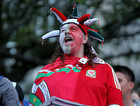 2016 07 01 Football fans celebrate Wales win against Belgium in the UEFA Euro 2016, Swansea, UK