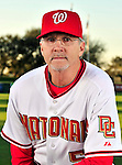 28 February 2010: Washington Nationals first base coach Dan Radison poses for his Spring Training photo at Space Coast Stadium in Viera, Florida. Mandatory Credit: Ed Wolfstein Photo