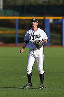 First overall draft pick in the 2015 Major League Baseball Player Draft, Dansby Swanson (7) of the Hillsboro Hops warms up before a game against the Boise Hawks at Ron Tonkin Field on August 21, 2015 in Hillsboro, Oregon. Boise defeated Hillsboro, 7-1. (Larry Goren/Four Seam Images)