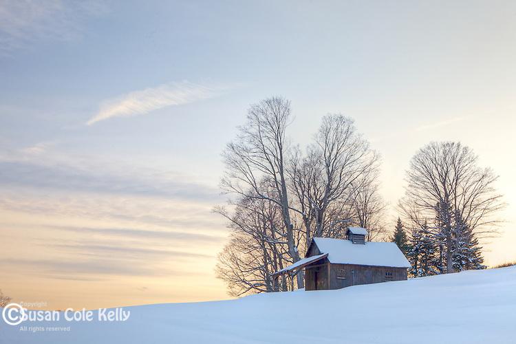 A sugarhouse in Peacham, Vermont, USA