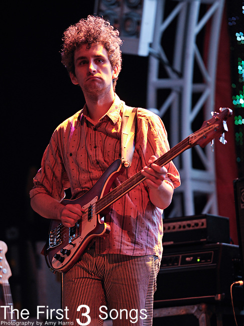 Matt Asti of MGMT performs during the Beale Street Music Festival in Memphis, TN on April 29, 2011.
