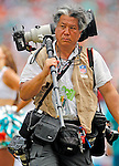 Boston Globes Barry Chin, using the modular component system by Think Tank Photo, works the game  as the Miami Dolphins host the New England Patriots at Sun Life Stadium in Miami Gardens. http://bit.ly/1qwsmk0
