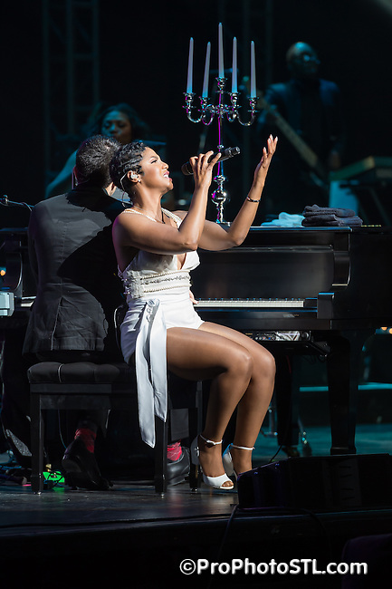 Toni Braxton performing at Variety, the Children's Charity St. Louis Dinner With the Stars gala event at Peabody Opera House in St. Louis, Missouri on April 25, 2015.