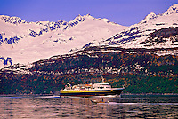 Alaska Ferry in Prince William Sound, near Valdez, Alaska USA