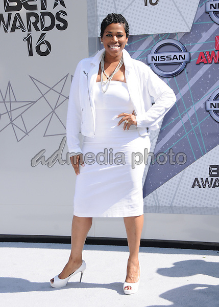 26 June 2016 - Los Angeles. Nicci Gilbert. Arrivals for the 2016 BET Awards held at the Microsoft Theater. Photo Credit: Birdie Thompson/AdMedia