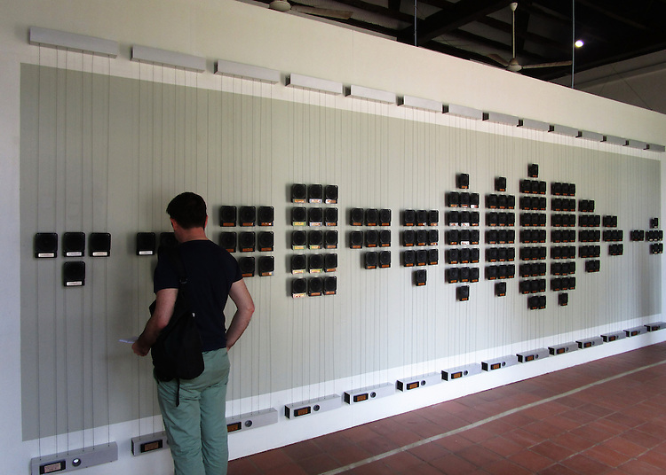 WHORLED EXPLORATIONS - Kochi Muziris Biennale 2014 - Rafael Lozano-Hemmer work.