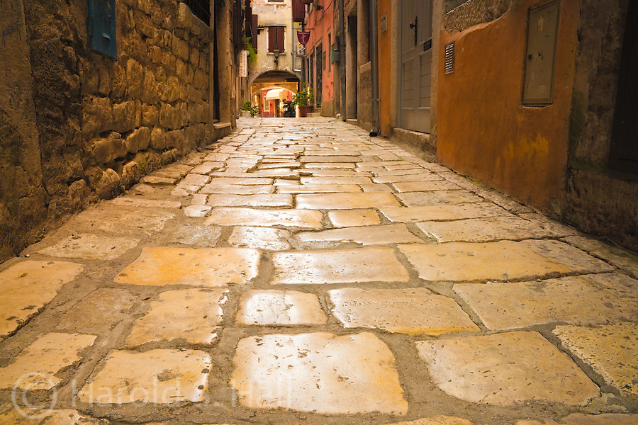 Rovinj is a fishing village on the Adriatic sea in western Croatia. Like many other old European towns, it is popular with tourists for the cobblestone walkways, high walls and colorful buildings.