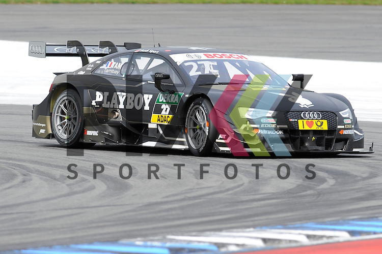 # 27 Adrien Tambay auf Audi RS5 DTM vom Audi Sport Team Abt Sportsline in der Spitzkehre beim Rennen der DTM auf dem Hockenheimring.<br /> <br /> Foto &copy; P-I-X.org *** Foto ist honorarpflichtig! *** Auf Anfrage in hoeherer Qualitaet/Aufloesung. Belegexemplar erbeten. Veroeffentlichung ausschliesslich fuer journalistisch-publizistische Zwecke. For editorial use only.