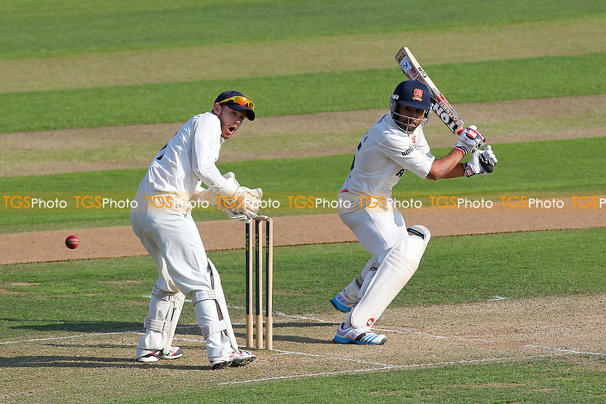 Ravi Bopara in batting action for Essex as Adam Rouse looks on - Essex CCC vs Gloucestershire CCC - LV County Championship Division Two Cricket at the Ford County Ground, Chelmsford - 30/06/14 - MANDATORY CREDIT: Gavin Ellis/TGSPHOTO - Self billing applies where appropriate - contact@tgsphoto.co.uk - NO UNPAID USE