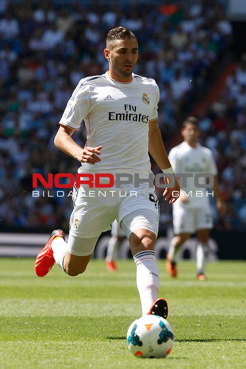 Real Madrid's Benzema during La Liga Match. September 01, 2013. Foto © nph / Caro Marin)