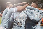 Celta de Vigo's players celebrate goal during La Liga match. February 27,2016. (ALTERPHOTOS/Acero)