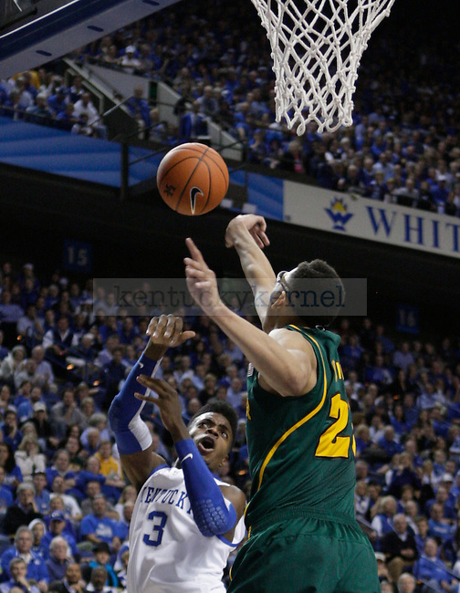 Nerlens Noel and Isaiah Austin during the second half of the game between the University of Kentucky and Baylor University, on Saturday, Dec. 1, 2012 at Rupp Arena, in Lexington, Ky. Baylor won 64-55. Photo by Latara Appleby | Staff