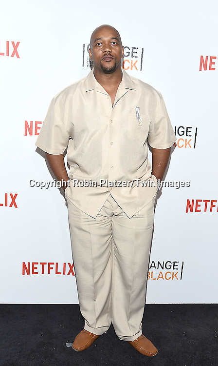 Jimmy Gary, Jr attends NexFlix's &quot;Orange is the New Black&quot; 4th Season New York Premiereon June 16, 2016 at the SVA Theatre in New York City, NY, USA.<br /> <br /> photo by Robin Platzer/Twin Images<br />  <br /> phone number 212-935-0770