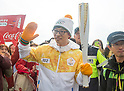 Yoo Jae-Suk, Nov 1, 2017 : South Korean TV host and comedian Yoo Jae-suk who is a torch bearer attends the Olympic Torch Relay on the Incheon Bridge in Incheon, west of Seoul, South Korea. The Olympic flame arrived in Incheon, South Korea on Wednesday and it is going to be passed across the country during a 100-day tour until the opening ceremony of the 2018 PyeongChang Winter Olympics which will be held for 17 days from February 9 - 25, 2018. (Photo by Lee Jae-Won/AFLO) (SOUTH KOREA)