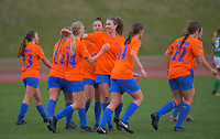 Action from the Women's Central League Football match between Wellington United and Wairarapa United at Newtown Park in Wellington, New Zealand on Saturday, 13 June 2020. Photo: Dave Lintott / lintottphoto.co.nz