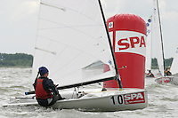 20th SPA Regatta - Medemblik.26-30 May 2004..Copyright free image for editorial use. Please credit Peter Bentley..Meg Galiard - USA