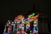 Mexico City, November 10, 2013. The Palace of Fine Arts in Mexico City, during the first International Festival of Lights Mexico 2013.  VIEWpress/Miguel Angel Pantaleon