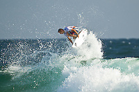 SNAPPER ROCKS, Queensland/Australia (Monday, 27 February, 2012) Josh Kerr (AUS).– The Quiksilver Pro Gold Coast presented by Land Rover, the opening stop on the 2012 Men's ASP World Championship Tour, ran for the fourth consecutive day at Snapper Rocks today, in two-to-three foot (1 metre) waves at Snapper Rocks.. .Adriano De Souza (BRA), 25, won the first three-man, non-elimination heat of Round 4 of the Quiksilver Pro. The lead changed multiple times between De Souza, Owen Wright (AUS), 22, and Josh Kerr (AUS), 27, with the Brazilian taking out the two Australians and advancing directly into the Quarterfinals.. .De Souza will once again face Owen Wright (AUS), 22, who went on to win his afternoon Round 5 heat, in Quarterfinal 1 when competition resumes.. .Kelly Slater (USA), 40, reigning 11 x ASP World Champion and last year's Quiksilver Pro winner, didn't take his foot off the gas in his morning Round 4 heat win. The iconic Floridian built momentum throughout the affair, even changing equipment mid-heat to adjust to the conditions. .Slater will now face Josh Kerr (AUS), 27, in Quarterfinal 2 when competition resumes.. .Jordy Smith (ZAF), 24, edged out Joel Parkinson (AUS), 30, and Miguel Pupo (BRA), 20, in an exciting Round 4 exchange at Snapper Rocks. Smith and Parkinson put on an epic show for the crowd and finished the heat with only 0.14 separating their score lines..Photo: joliphotos.com