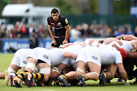 Alex Lozowski of Saracens watches a scrum. Aviva Premiership match, between Saracens and Wasps on October 8, 2017 at Allianz Park in London, England. Photo by: Patrick Khachfe / JMP