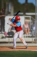 Landon Anderson during the WWBA World Championship at the Roger Dean Complex on October 18, 2018 in Jupiter, Florida.  Landon Anderson is a third baseman from Rockwall, Texas who attends Rockwall-Heath High School.  (Mike Janes/Four Seam Images)
