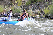 Colorado River Guides crashing Cable Rapid while floating the Upper Colorado River from Rancho to State Bridge, August 21, 2013, Morning Trip, AM, Bond, Colorado - WhiteWater-Pix | River Adventure Photography - by MADOGRAPHER Doug Mayhew