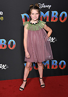 11 March 2019 - Hollywood, California - Raegan Revord. &quot;Dumbo&quot; Los Angeles Premiere held at Ray Dolby Ballroom. Photo <br /> CAP/ADM/BT<br /> &copy;BT/ADM/Capital Pictures