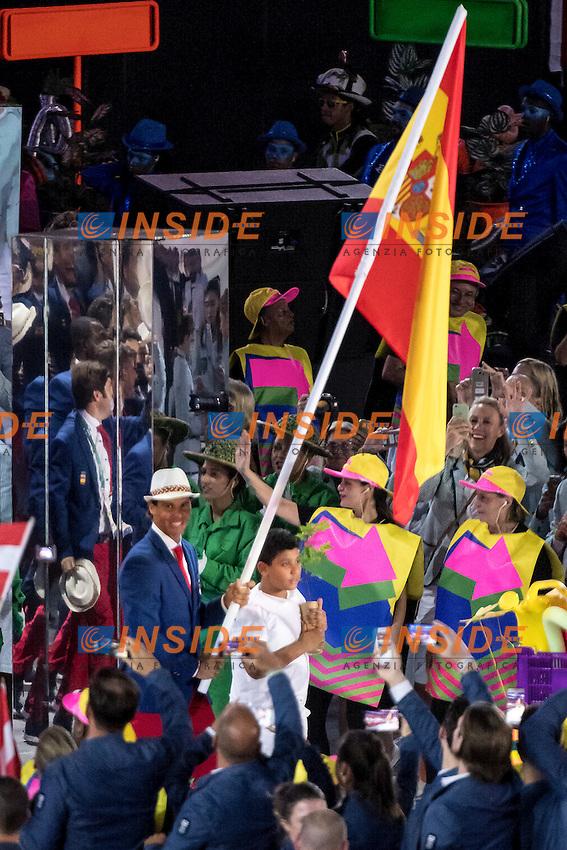 Rafael Nadal Spain Team<br /> Rio de Janeiro 06-08-2016 XXXI Olympic Games <br /> Maracana' Stadium <br /> Opening Ceremony 05/08/2016<br /> Photo Giorgio Scala/Deepbluemedia/Insidefoto