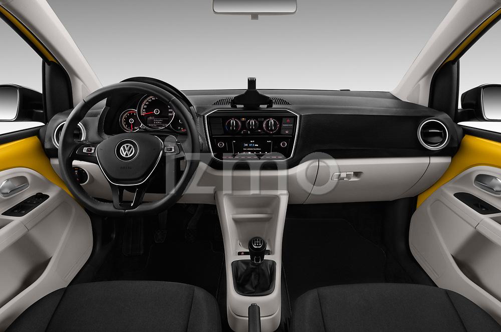 Stock photo of straight dashboard view of 2017 Volkswagen UP Move-up 5 Door Hatchback Dashboard