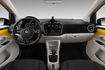 Stock photo of straight dashboard view of 2017 Volkswagen UP Move-up 5 Door Hatchback Dashboard
