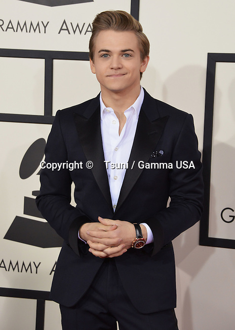 Hunter Hayes  arriving at the 56th Annual Grammy Awards 2014 at the Staple Center in Los Angeles.