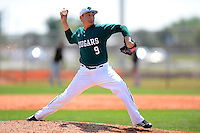 Chicago State University Cougars pitcher Jerry Silva #9 during a game against the St. Bonaventure Bonnies at South County Regional Park on March 3, 2013 in Punta Gorda, Florida.  (Mike Janes/Four Seam Images)