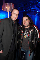 Martin Deschamps pose with Hugo Lapointe launch his latest CD LA TRENTAINE at the Plaza in Montreal, February 13 ,2007<br />