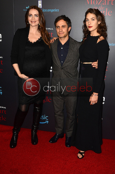 Saffron Burrows, Gael Garcia Bernal, Lola Kirke<br /> at the &quot;Mozart In The Jungle&quot; Special Screening and Concert, The Grove, Los Angeles, CA 12-01-16<br /> David Edwards/DailyCeleb.com 818-249-4998