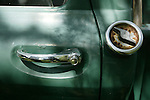 """The door handle and gas cap on the 1966 Chevrolet Stepside C-10 pickup truck of Wilson """"Rainy"""" Rainwater <cq>, 88,  Thursday, September 13, 2007, at his home in Pierson. Rainwater has replaced the engine and made a few other adjustments, but hasn't had any other major issues. Consumer Reports says car and truck owners can save a lot of money by keeping their vehicles until the odometer reaches 200,000 or more. (Daytona Beach News-Journal, Chad Pilster)"""