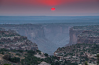 Sunset at. The Neck Canyonlands National Park, Utah , Island in the Sky Green River Canyons