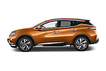 Car Driver side profile view of a 2015 Nissan Murano Platinum 5 Door SUV Side View