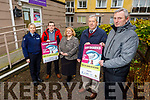 Launching the Awareness of Illegal Money Lenders in the County for the Christmas period at the Kerry MABS office in Tralee on Tuesday.  <br /> Front l to r: John Regan (PRO of Chapter 23 Credit Union) and Eamon Foley (Co-Ordinator MABS).<br /> Back l to r: Sgt Grace O'Connell, Paddy Kevane (President, St Vincent de Paul) and Helen Courtney (Chapter 23 Credit Union).