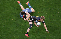 5th July 2020; Hamilton, New Zealand;  Damian McKenzie gives Jordie Barrett the slip.<br />