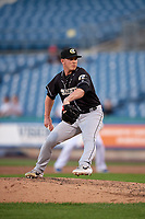 Charlotte Knights pitcher Matt Foster (22) during an International League game against the Syracuse Mets on June 11, 2019 at NBT Bank Stadium in Syracuse, New York.  Syracuse defeated Charlotte 15-8.  (Mike Janes/Four Seam Images)